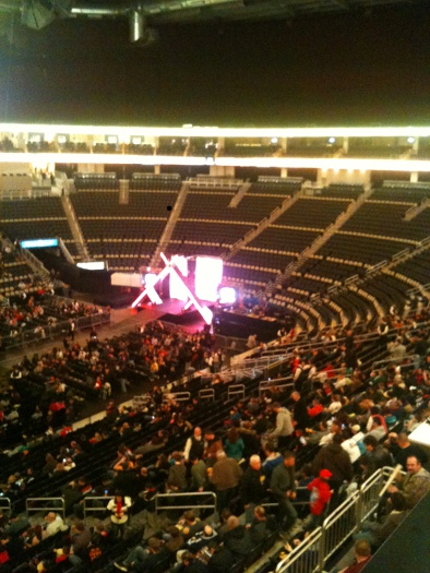 wwe house show stage set-up