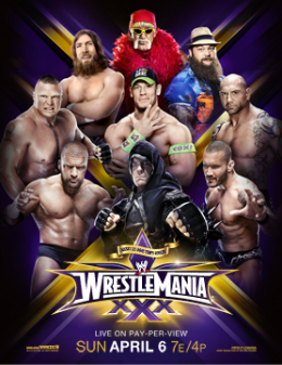 WWE News: WrestleMania 30 pay-per-view poster features ...